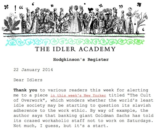 The Idler Newsletter