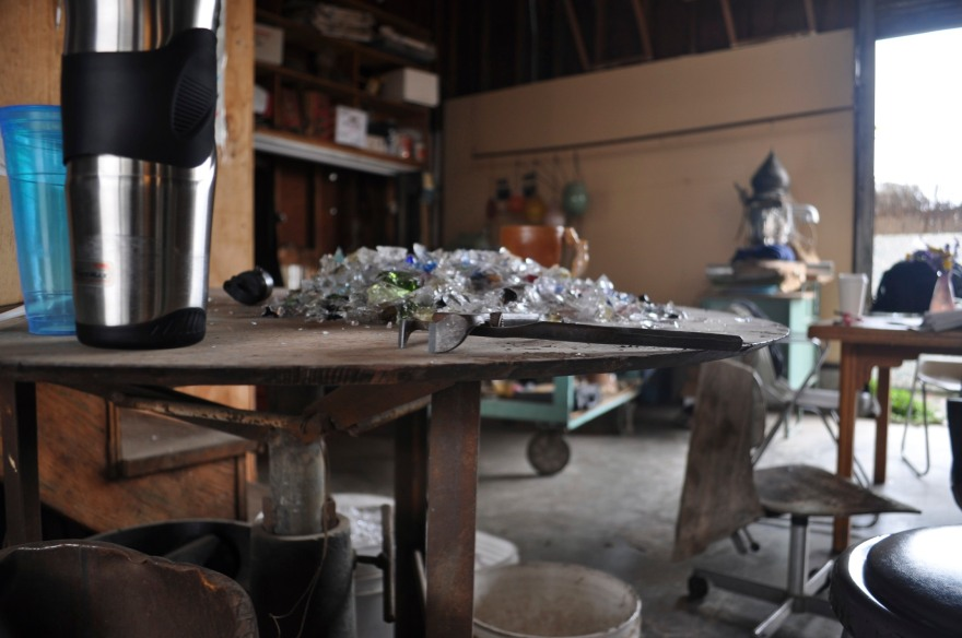 Sweating the details: recycling (imperfect) glass at Lee Miltier's glass studio
