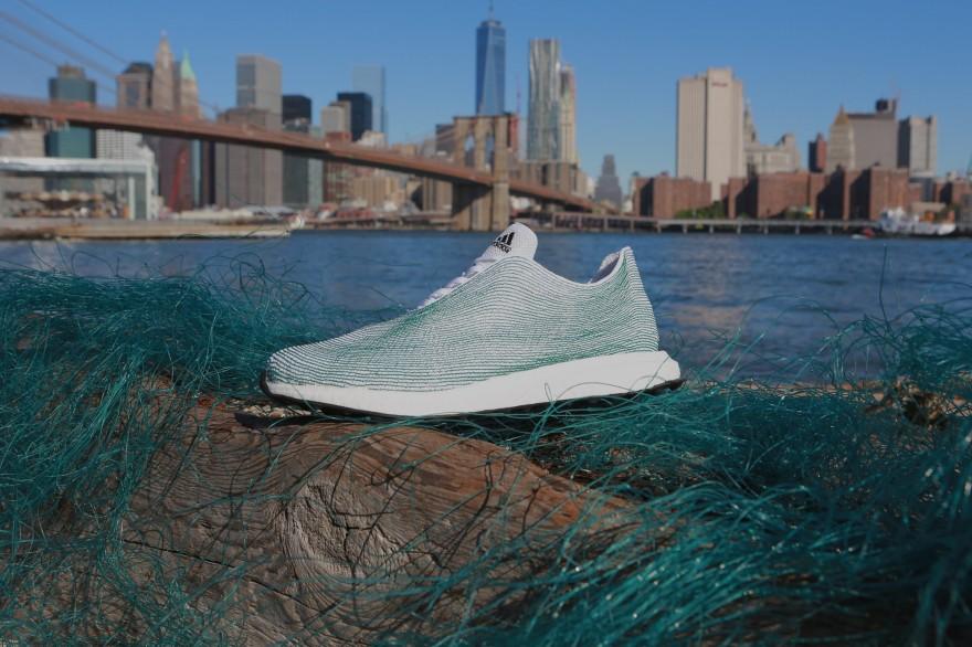 Adidas made from ocean waste. Via AdWeek.