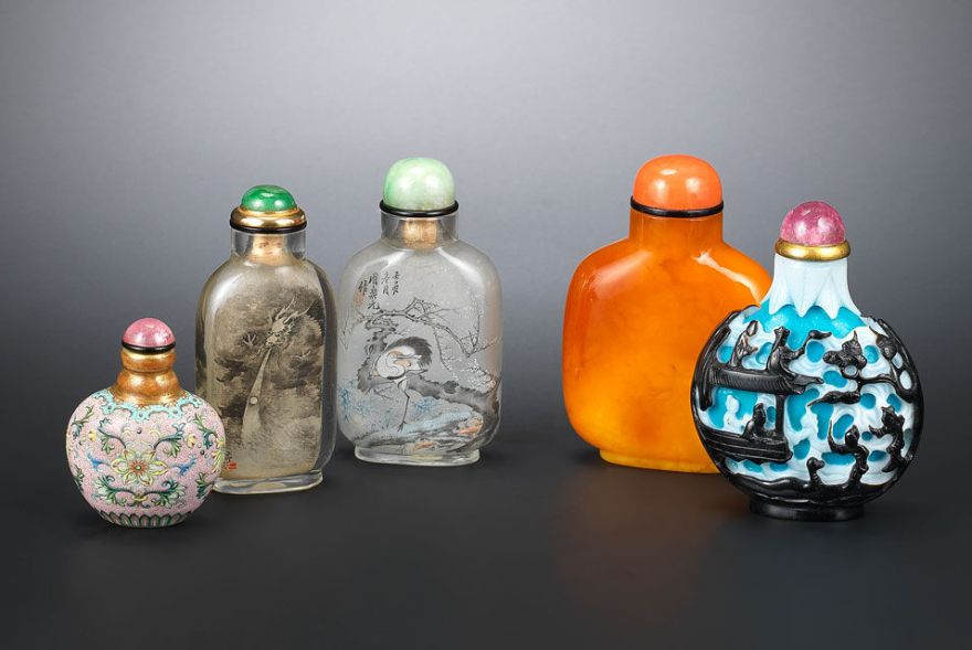 Paul Braga's Snuff Bottle Collection. Via Bonhams.